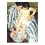 The Child's Bath by Mary Cassatt, Vintage Fine Art Postcards