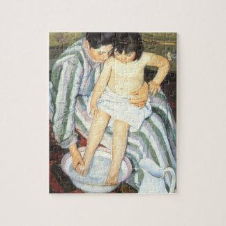 The Child's Bath by Mary Cassatt, Vintage Fine Art Jigsaw Puzzles