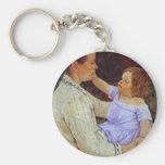 The Child's Caress. c. 1890, Mary Cassatt Keychain
