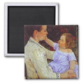 The Child's Caress. c. 1890, Mary Cassatt Magnet