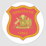 the Chilean Army, Chile Round Stickers