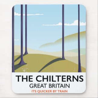 The Chilterns Great Britain travel poster Mouse Pad