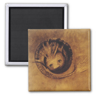 The Chimera [Chimäre] by Symbolist Odilon Redon 2 Inch Square Magnet