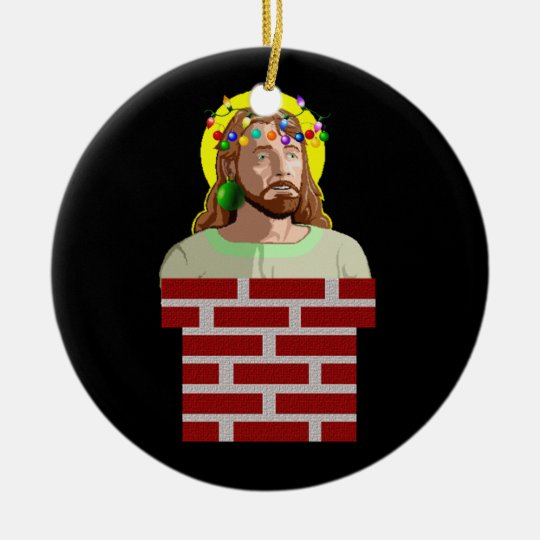 The Chimney Jesus Ceramic Ornament