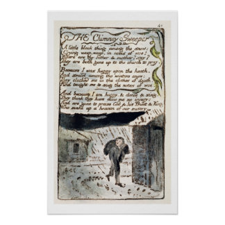'The Chimney Sweeper', plate 41 (Bentley 37) from Poster