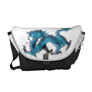 The Chinese blue dragon Courier Bag