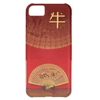"""The Chinese fan - Zodiac sign """"ox, 牛"""" iPhone 5C Cover"""