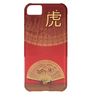 """The Chinese fan - Zodiac sign """"tiger, 虎"""" Case For iPhone 5C"""