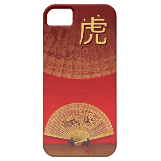 """The Chinese fan - Zodiac sign """"tiger, 虎"""" iPhone SE/5/5s Case"""