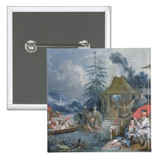 The Chinese Fishermen, c.1742 2 Inch Square Button