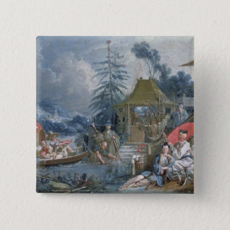 The Chinese Fishermen, c.1742 Pinback Button