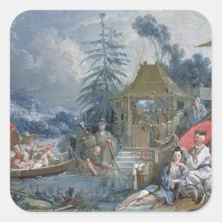 The Chinese Fishermen, c.1742 Square Sticker