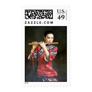 THE CHINESE FLUTIST STAMP