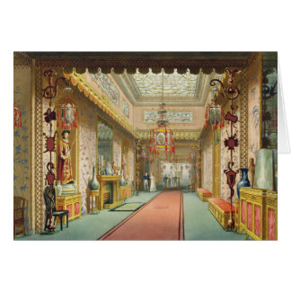 The Chinese Gallery, from 'Views of the Royal Pavi Card
