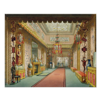The Chinese Gallery, from 'Views of the Royal Pavi Poster
