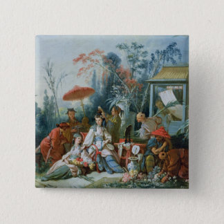 The Chinese Garden, c.1742 Pinback Button