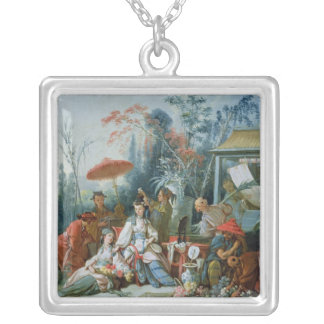 The Chinese Garden, c.1742 Silver Plated Necklace