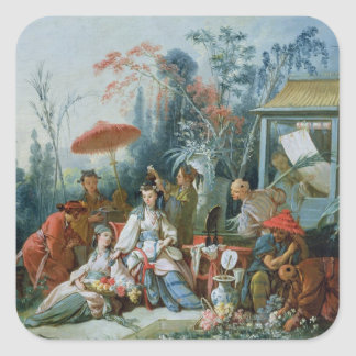 The Chinese Garden, c.1742 Square Sticker