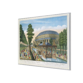 The Chinese House, the Rotunda and the Company in Gallery Wrapped Canvas