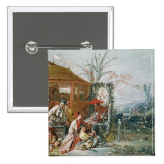 The Chinese Hunt, c.1742 Pinback Button