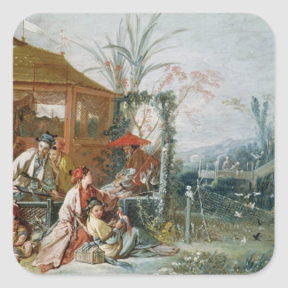 The Chinese Hunt, c.1742 Square Sticker
