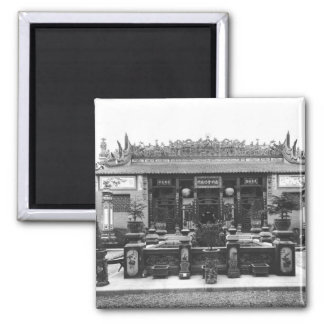 The Chinese Pavilion 2 Inch Square Magnet