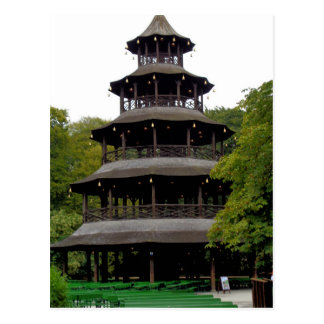 The Chinese Tower in Englischer Garten Postcard
