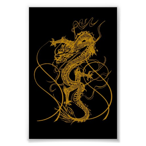 The Chinese year of the dragon 2012 Print