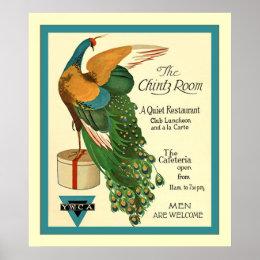 The Chintz Room ~ Vintage World War 1 ~ Restaurant Poster