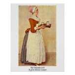 The Chocolate Girl By Jean-Etienne Liotard Print