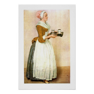 The Chocolate Girl, fine art Poster