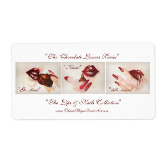 """""""The Chocolate Lovers Series"""" Sticker_Label Label"""
