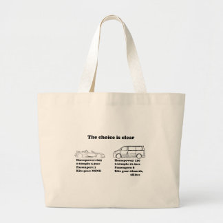the choice is clear tote bag