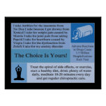The Choice Is Yours Chiropractic Poster