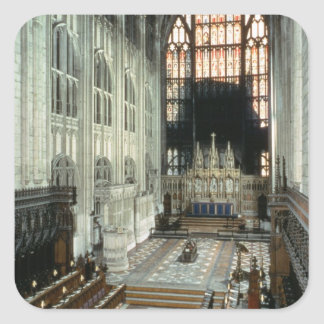 The choir and east window, 12th century (photo) square sticker