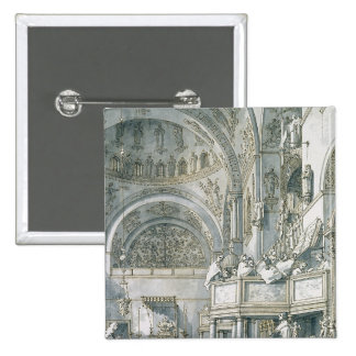 The Choir Singing in St. Mark's Basilica, 2 Inch Square Button