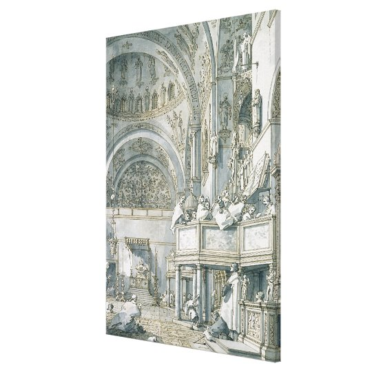 The Choir Singing in St. Mark's Basilica, Canvas Print