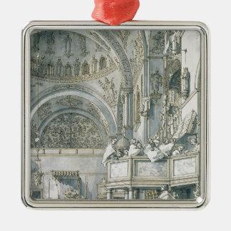 The Choir Singing in St. Mark's Basilica, Metal Ornament