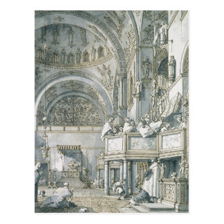 The Choir Singing in St. Mark's Basilica, Postcard