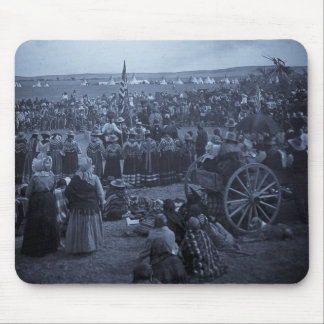 The Choosing Dance of the Blackfeet Mouse Pad