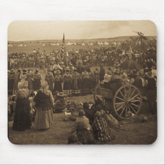 The Choosing Dance of the Blackfeet (Sepia) Mouse Pad