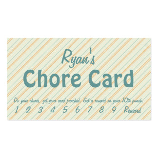 The Chore Card Business Card