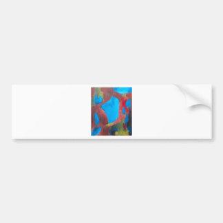 The Chosen Landscape (abstract landscape painting Bumper Sticker