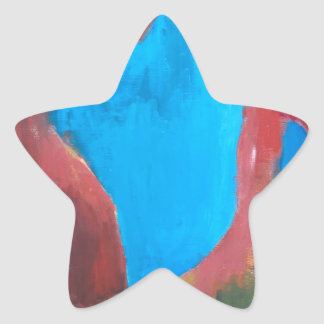The Chosen Landscape abstract landscape painting Star Stickers
