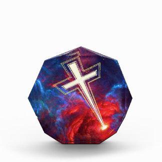 The Chrisian Cross out of The Heavens Acrylic Award
