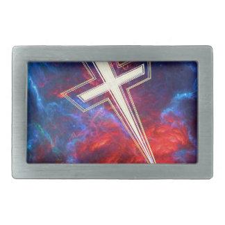 The Chrisian Cross out of The Heavens Rectangular Belt Buckle