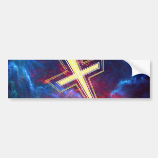 The Chrisian Cross out of The Heavens Bumper Sticker