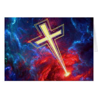 The Chrisian Cross out of The Heavens Greeting Cards