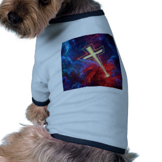 The Chrisian Cross out of The Heavens Doggie T-shirt
