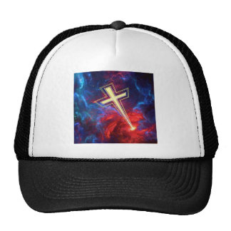The Chrisian Cross out of The Heavens Mesh Hats